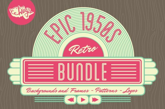 Epic 1950s retro graphics By Wing's Art 2013
