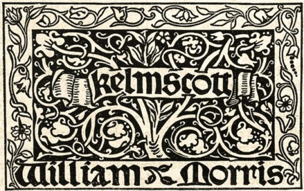 Plate for Kelmscott Press, which Morris opened in 1891