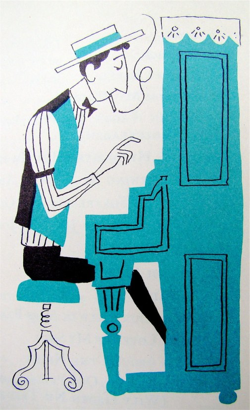 From The Fireside Book of Favorite American Songs Illustrated by Aurelius Battaglia. 1952.